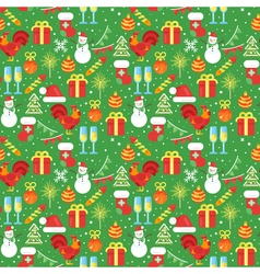 new year pattern 1 vector image
