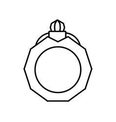 pictogram jewelry ring bride icon design vector image