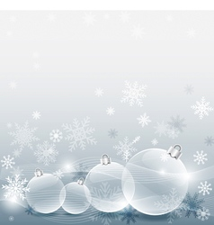 Christmas ball with decorated snowflake silver vector