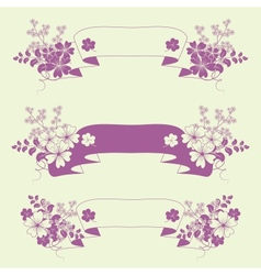 Garden flowers and herbs banners vector