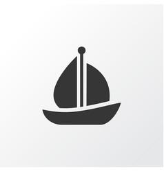 Sail ship icon symbol premium quality isolated vector