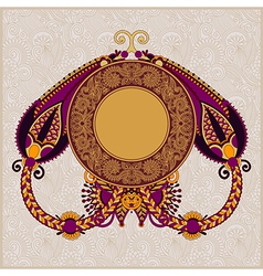 circle floral ornamental vintage template vector image
