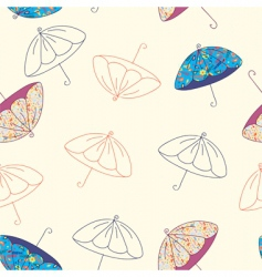 Umbrellas seamless vector