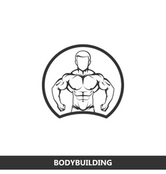 Muscled man body silhouette vector