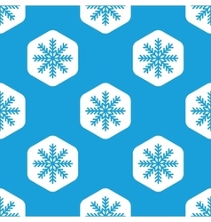 Snowflake hexagon pattern vector
