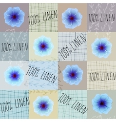 Pattern with flowers linen vector