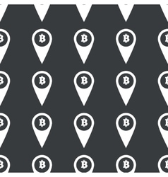 Straight black bitcoin pointer pattern vector