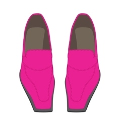 Female shoes on a white background vector image