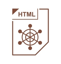 Html file icon cartoon style vector