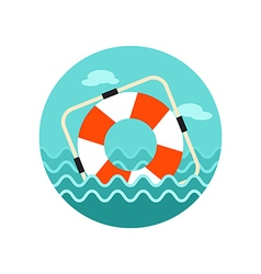 Lifebuoy icon summer marine vector