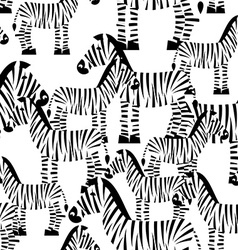 Zebra seamless pattern savannah animal ornament vector