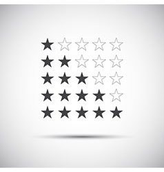 Siple of five rating stars vector