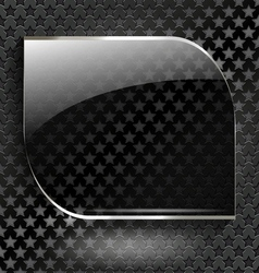 Abstract black background with glass element-frame vector image