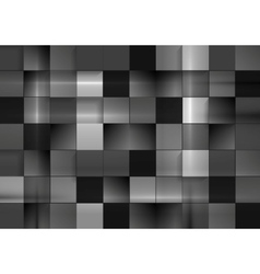 Abstract black futuristic squares background vector