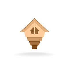 Arrow up house logo vector image vector image