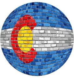Ball with colorado flag vector