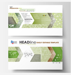 Business templates in hd format presentation vector