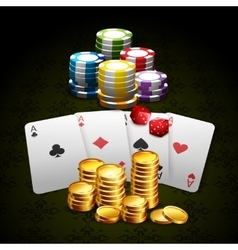 Casino and gambling background vector image vector image