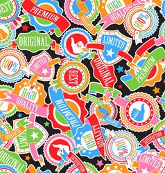Color badges and ribbons vector image