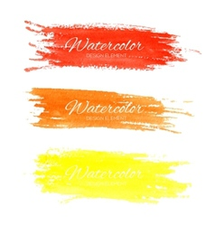 Colorful watercolor brush strokes vector