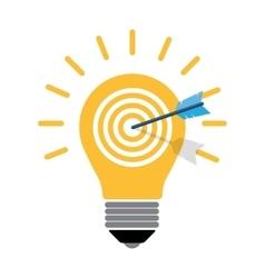 Creative light bulbtargett vector image vector image