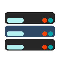 Database icon flat vector