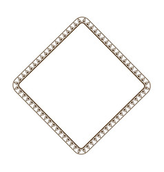 decorative frame geometric decoration template vector image