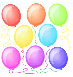Eight Beautiful Party Balloons vector image vector image