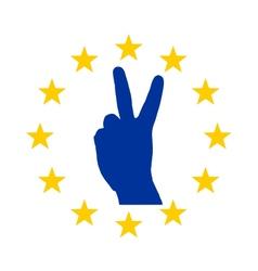 European finger signal vector