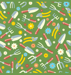 Gardening tools seamless pattern 1 vector