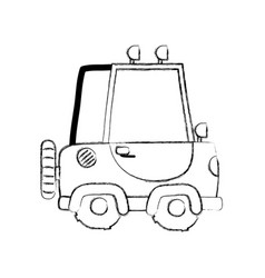 Grunge tractor farm vehicle plant transport vector