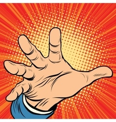 Hand palm power vector