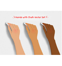 hands drawing with chalk vector image vector image