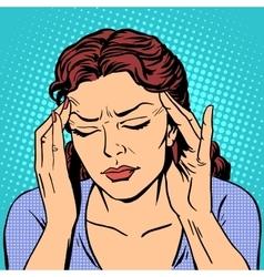 Headache health medicine woman vector