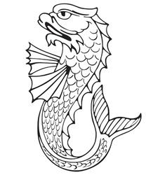 heraldic dolphin No3 vector image vector image