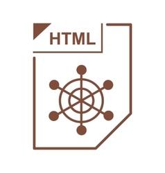 Html file icon cartoon style vector