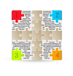 infographics - four steps with puzzle pieces vector image vector image