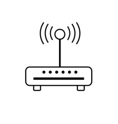 Line router wifi connection network technology vector
