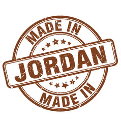 Made in jordan brown grunge round stamp vector