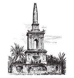 Magellan tomb vintage vector