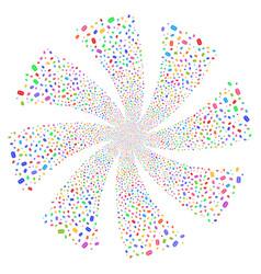 Mail envelope fireworks swirl flower vector