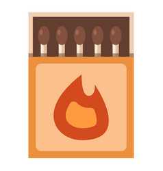matchbox icon flat style vector image vector image