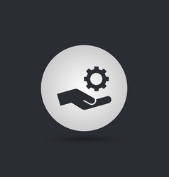 mechanic gear service hand icon vector image