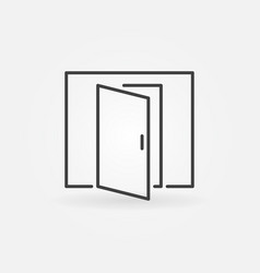 open door icon vector image vector image