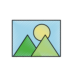 picture icon application social media icon vector image vector image