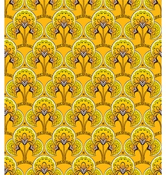 Retro Yellow Seamless background vector image vector image