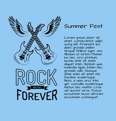 Rock music forever summer fest vector