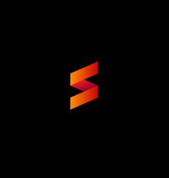 s origami logo vector image