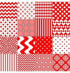 Set of seamless backgrounds with vector
