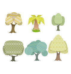 Six trees set vector